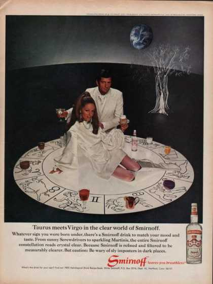 Smirnoff Leaves You Breathless Vodka (1969)