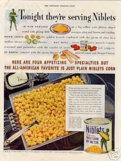 Niblets Green Giant Corn (1938)