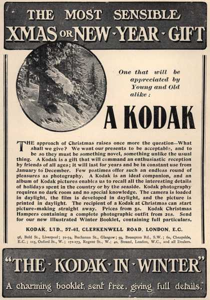 Kodak &#8211; The Most Sensible Xmas Or New Year Gift (1906)