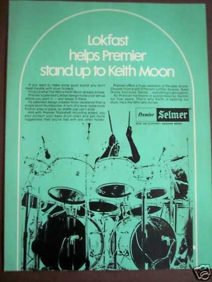 Premier's Lokfast Drum Holders Keith Moon Music (1975)