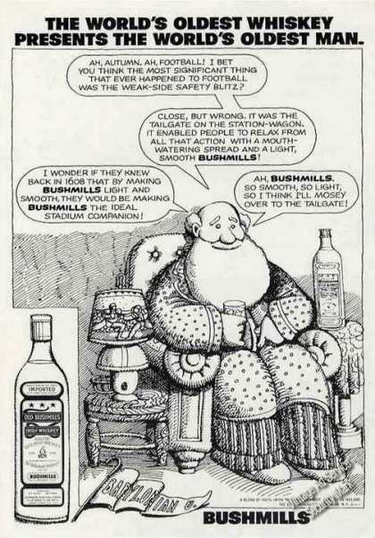 "Bushmills ""World's Oldest Whiskey"" Cartoon (1973)"
