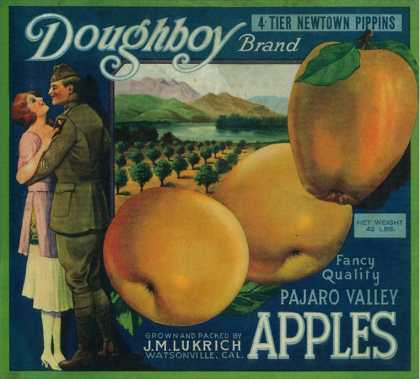 Doughboy Apple Crate Label – Watsonville, CA