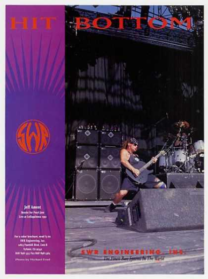Pearl Jam Jeff Ament SWR Bass Systems Photo (1993)