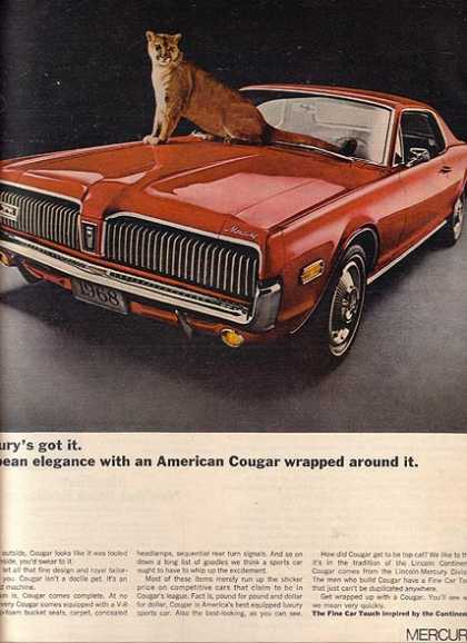 Ford's Mercury Cougar (1968)