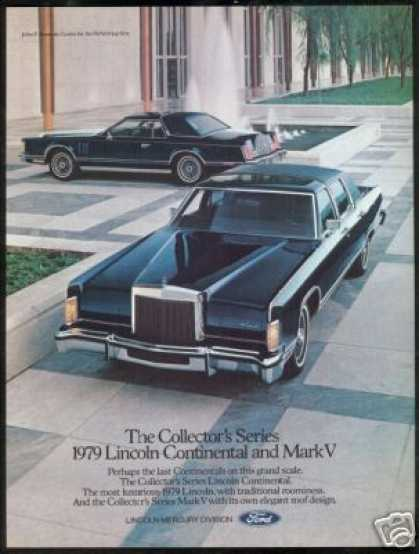 Midnight Blue Lincoln Continental & Mark V (1979)