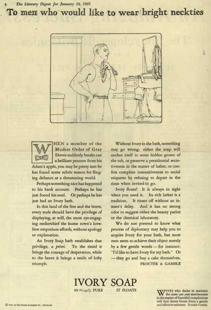 Procter & Gamble Co.'s Ivory Soap – To men who would like to wear bright neckties (1925)