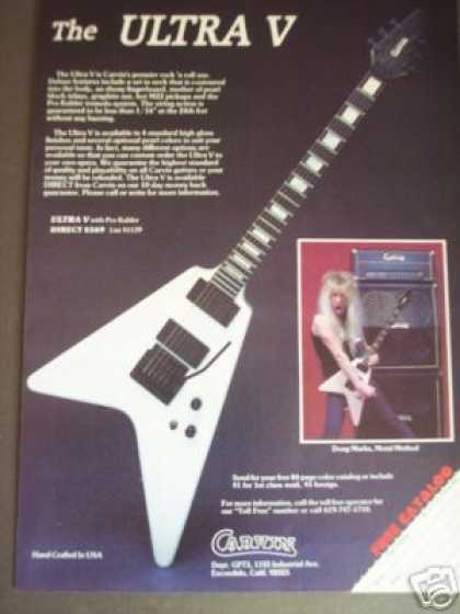 Doug Marks Photo Carvin Ultra V Guitar (1986)