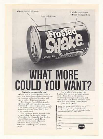Borden Frosted Shake Can Vending (1968)