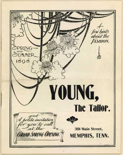 Young, the Tailor's Suits, Men's fashion – A Few Hints about Fashion (1898)