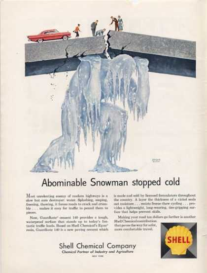 Shell Chemical Company Jerome Rozen Ice Giant Ad T (1961)