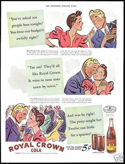 RC Royal Crown Cola Tight Budget (1939)