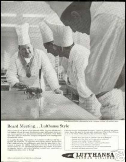Chef Photo Frankfurt Lufthansa German Airlines (1961)