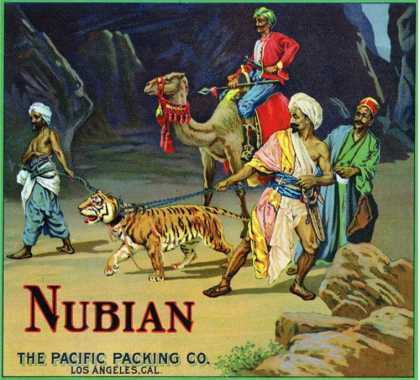 Los Angeles, California, Nubian Brand Citrus Label