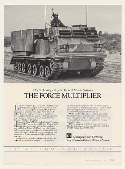 LTV MLRS Multiple Launch Rocket System Photo (1985)