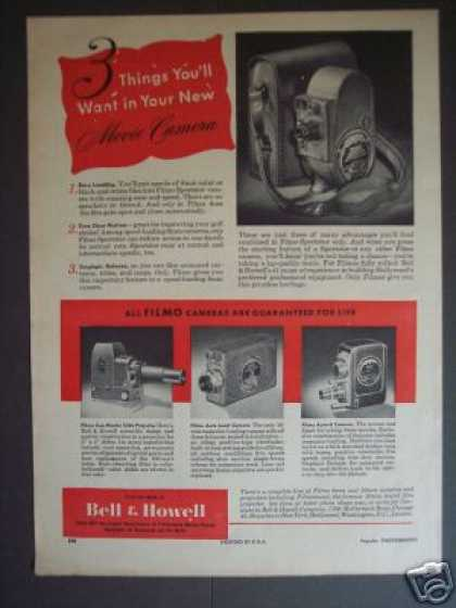 Bell & Howell Filmo Movie Camera (1948)