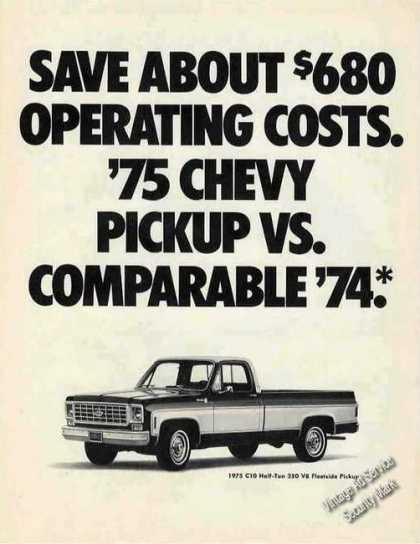 Chevrolet C10 Half-ton 350 V8 Fleetside Pickup (1975)