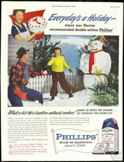 Phillips Milk of Magnesia Snowman Pirate (1946)