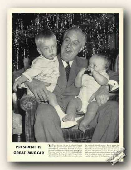 Franklin D. Roosevelt & Grandchildren Picture (1940)