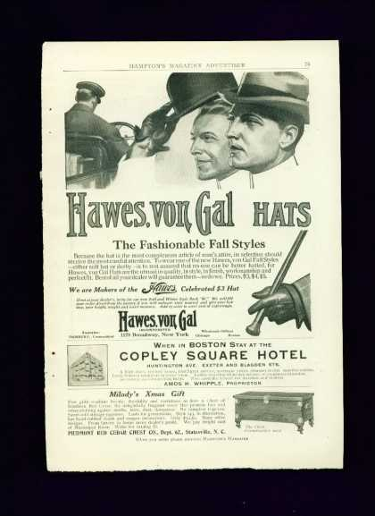 Hawes Von Gal Hats Fall Styles C 2/3 Page (1910)
