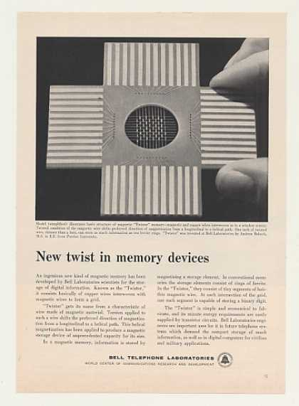Bell Telephone Twistor Magnetic Memory (1958)
