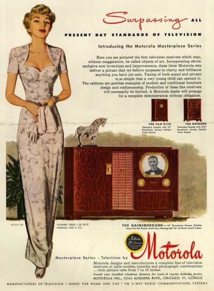 Motorola – Surpassing All Present Day Standards of Television (1949)