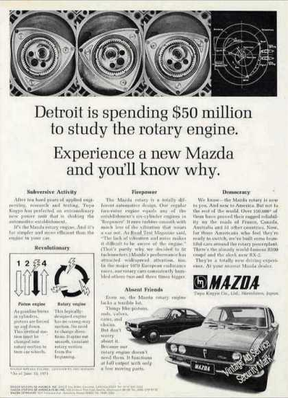 Mazda Rotary Engine Photos & Article (1971)