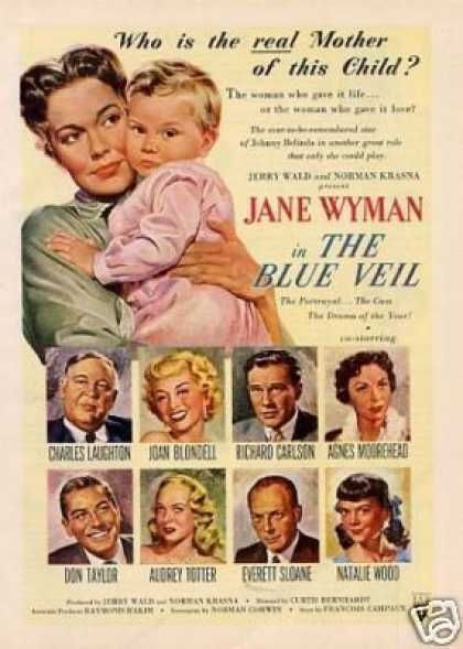"Movie Ad ""The Blue Veil"" Jane Wyman (1951)"