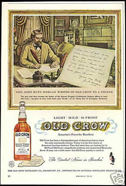 Old Crow Whiskey Gen John Hunt Morgan (1958)