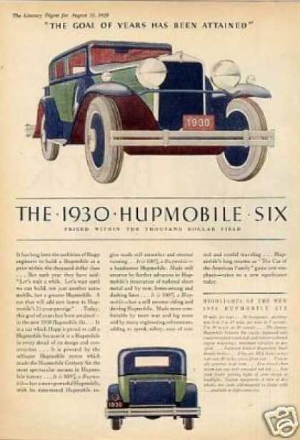 Hupmobile Six Car Color (1930)