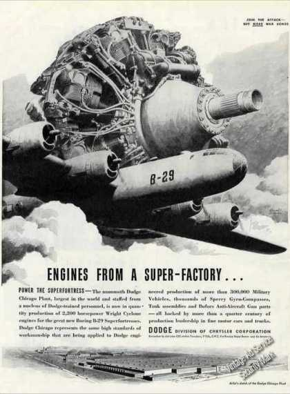 Wwii B-29 & Engine Art Dodge Super Factory (1944)