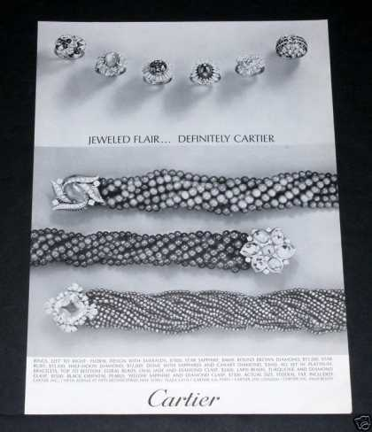 Old , Cartier, Jeweled Flair Rings (1964)
