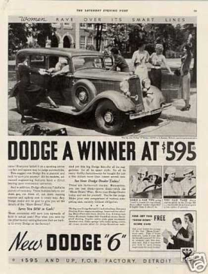 "Dodge ""6"" Car Ad 2 Page (1934)"