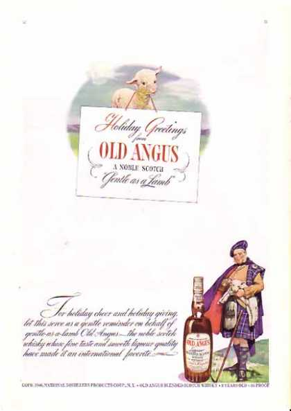 Old Angus Scotch Whisky Christmas – Gentle as a Lamb (1940)