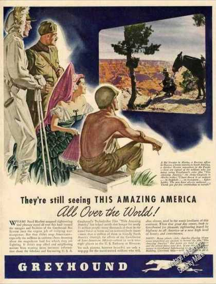 "Greyhound Buses ""This Amazing America"" Wwii (1944)"