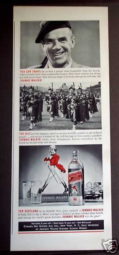 Bagpipes & Kilts Johnnie Walker Whisky (1939)