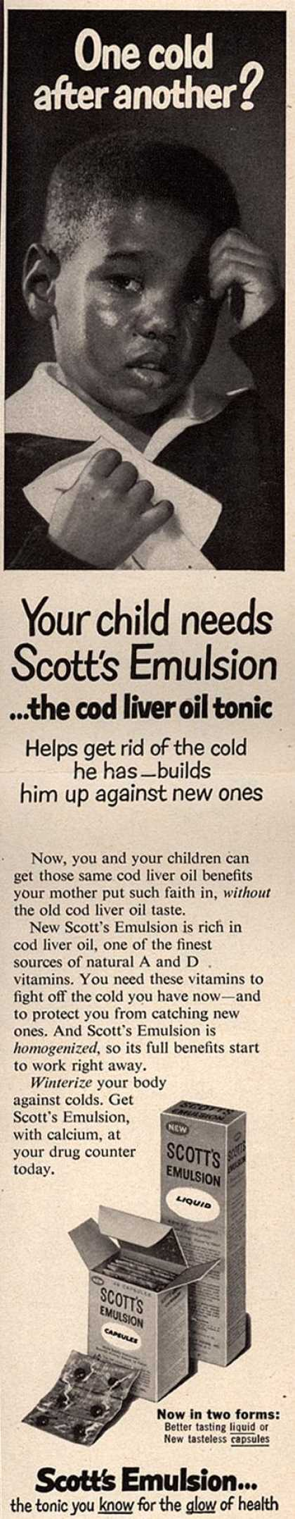 Unknown's Scott's Emulsion – One cold after another? Your child needs Scott's Emulsion (1957)