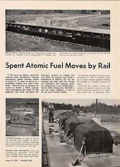 """Spent Atomic Fuel Moves By Rail"" Article (1961)"