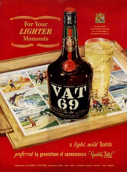 Vat 69 Scotch Bottle Hunting (1953)