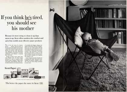 Scott Paper Company's Scott Paper Products – If you think he's tired, you should see his mother (1960)