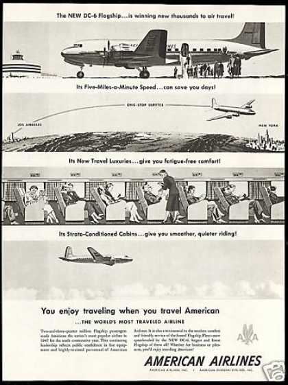 American Airlines DC-6 DC6 Flagship Airplane (1948)