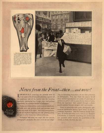 Kodak – News from the Front – then...and now (1918)