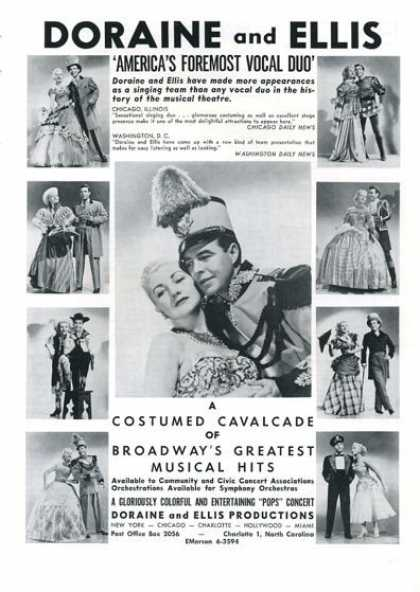 Doraine & Ellis Broadway Cavalcade Musical Hits (1961)