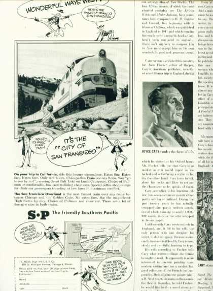 Southern Pacific 1/2 Page C Ad San Francisco (1950)