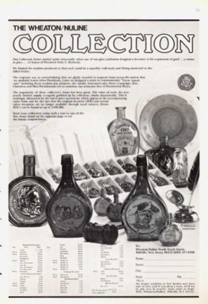 Wheaton Nuline Bottle Collection (1972)