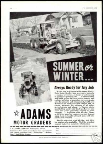 Adams Heavy Duty Motor Grader 2 Photo (1940)