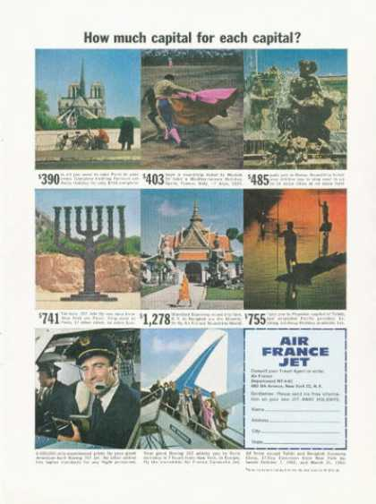 Air France Travel Pilot Tel Aviv (1961)