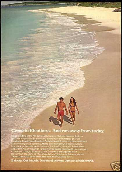Bahama Islands Travel Eleuthera Photo (1971)