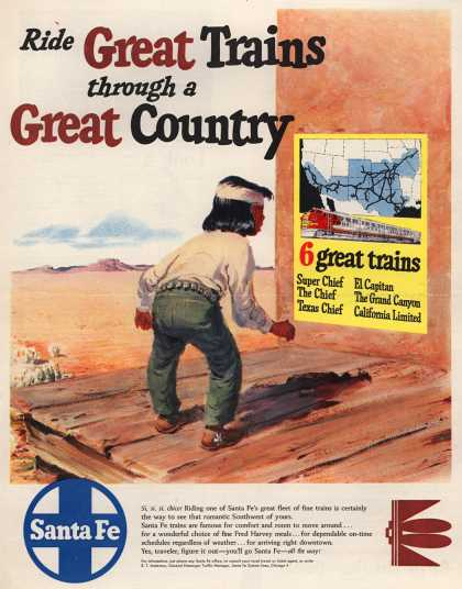 Santa Fe System Lines – Ride Great Trains through a Great Country (1950)