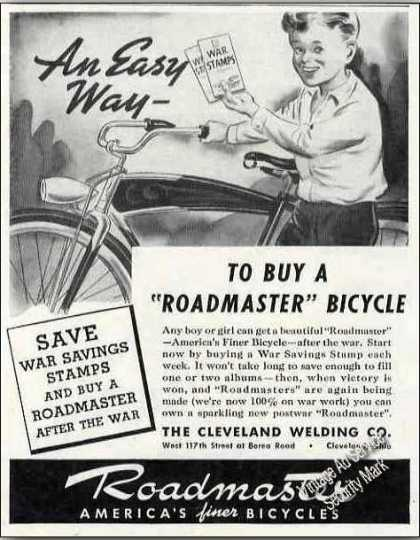 Roadmaster Bicycle Wwii Buy With War Bonds (1944)