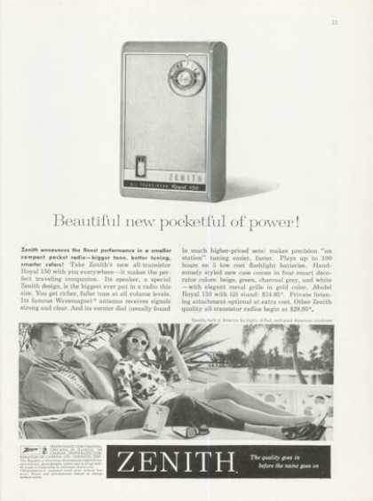 Zenith Portable Transistor Radio Royal 150 (1961)